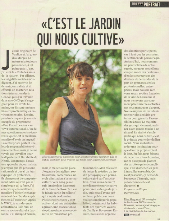 Article WWF Magazine Septembre 2018